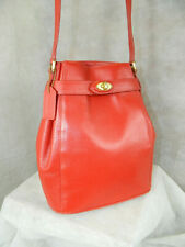 COACH Vintage Madison Deauville Drawstring Bag #4426 Brass Cherry Red NEVER USED