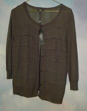 NEW WITH TAGS $ 89.00 TALBOTS PETITE  CARDIGAN ALMOST SHEER SIZE PS LODEN GREEN