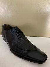 MEZLAN Mens Shoes Size 13 M Black Genuine Crocodile Alligator Oxfords