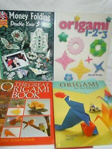 Huge Lot Origami Instruction Books  All But 1 Are Brand New