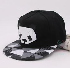 ✅UK✅ UNISEX BLACK PANDA cap /Snapback/Flat cap/Fashion Hats/Hiphop/Grime✅(14)