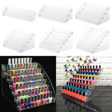 2-7 TIER ACRYLIC NAIL POLISH STAND COSMETIC VARNISH LIPSTICK CLEAR DISPLAY STAND