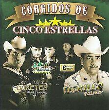 FREE US SHIP. on ANY 2+ CDs! ~Used,Good CD Various: Corridos de Cinco Estrellas