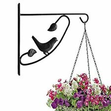 Hook with Screw Tips for Planters Bird Feeder Lanterns Wrought Iron 12 Inch