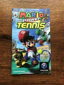 Mario Power Tennis Nintendo Gamecube Instruction Manual Only