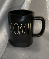 "Rae Dunn Artisan Collection ""COACH"" New Black Matte Mug! large Letter LL"
