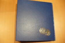 CLASSEUR MONNAIE BLEU  LOGO 100 € - 5 PAGES OPTIMA LEUCHTTURM  - NEUF  - !!