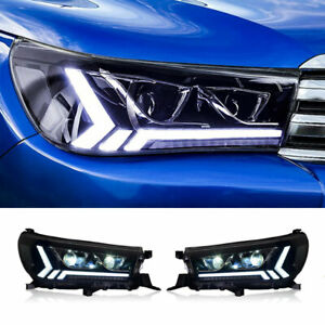 For Toyota HILUX REVO LED Headlights Projector DRL Replace OEM Headlights 15-20