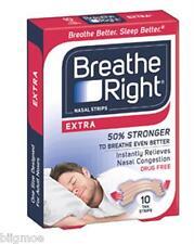 BREATHE RIGHT Nasal Tiras Extra 132 Total Bronceado Congestión Sleep Ronquidos
