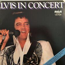 "Elvis Presley - Elvis in Concert 12"" Vinyl 2LP RCA (Tan Label) Australia NM 1977"