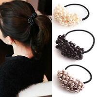 Hair Accessories Pearl Elastic Rubber Bands Headwear For Women Girl .cbIJ