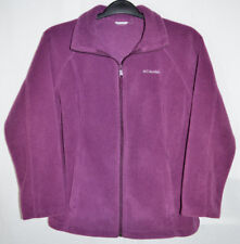 Columbia Fleece Jacket Purple Zip Front Women's M? No Size Tag See Measurements