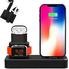 4 Piece Docking Station Bundle: for Apple iPhone, iPad, Airpods and Watch.