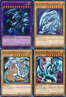 BLUE-EYES WHITE DRAGON Mint 4_Different Artworks CARD SET COMMON 1st LDK2-YUGIOH