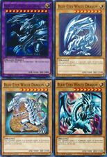 4_Different Artworks CARD SET BLUE-EYES WHITE + Ultimate DRAGON Mint 1st YUGIOH