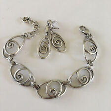 Brighton Scroll & Flower Station Bracelet & Earrings Set