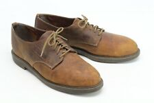Zodiac USA Mens Shoes 10.5 M Brown Leather Plain Toe Blucher Casual Style Scuffs