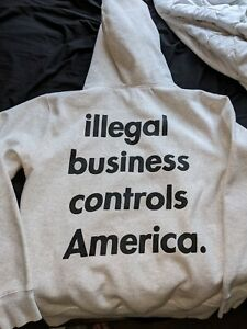 Supreme Illegal Business Hooded Sweatshirt Ash Grey SS18 XL EXTRA LARGE hoodie