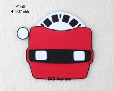 Die Cut Red Viewmaster Slide Handmade Scrapbook Embellishment Paper Piecing CKS
