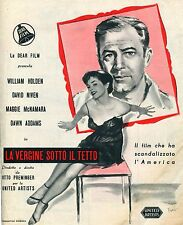 BROCHURE,LA VERGINE SOTTO IL TETTO,The Moon Is Blue,PREMINGER HOLDEN NIVEN