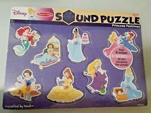 Disney Melissa & Doug Princess Pastimes Wooden Sound Puzzle New