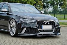 For Audi RS6 4G C7 Front Bumper Lip Skirt Lower spoiler Chin Valance Splitter