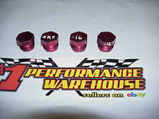 4 XRP Red Aluminum -16 AN Male Caps / Plugs NHRA NASCAR Aeroquip Earls C48