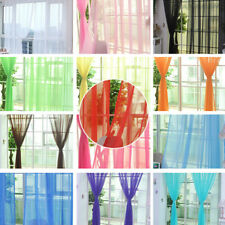 Tulle Curtains for the Kitchen Living Room Solid Sheer Curtains on the WindoFCA
