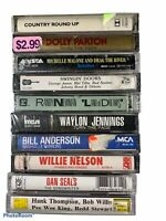 Country Music Cassettes Lot of 10 SEALED Waylon Willie Dolly Bill Anderson LT1