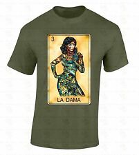 Loteria La Dama T-SHIRT Day Of Dead Mexican Bingo Latino Ethnic Lotto Cool Shirt