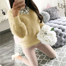 Women Winter Knitted Jumper Sweater Tops Pullover Knitwear Long Tops Dress