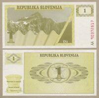 Slovenia - 1 tolar  1990  P1  Uncirculated  ( Banknotes )