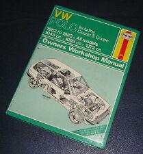 1982-83 VW POLO 1043cc/1093cc/1272cc PETROL HAYNES WORKSHOP MANUAL  813