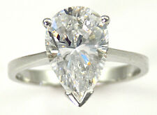 1 ct Pear Ring Vintage Brilliant Top Russian CZ Moissanite Simulant Size 7