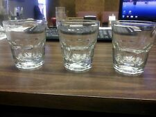 (THREE)GLASSES 4.5 oz NEW ORLEANS ROCK/DRINK GLASS DURATUFF ANCHOR HOCKING 90004