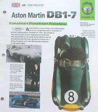 Aston Martin Db1-7 Histoire Brochure : Vantage Zagato, Db, 2,3,4,5,6