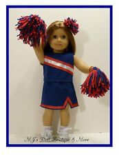 Royal Blue & Red Cheerleader Set fits American Girl Doll