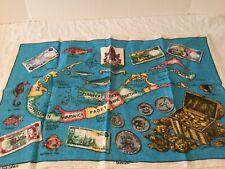 New listing Vintage Tea Towel Kitchen Linens Irish Linen Map Of Bermuda Travel Souvenir Nice