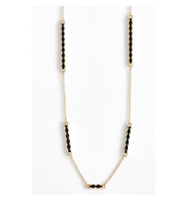 House Of Harlow Women's Gold Black Bar Station Necklace 22133