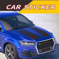 2x Matte Black Car Hood Stickers Decals Trim 37.4inch SUV Pickup Universal