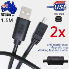 2x Mini USB 2.0 Data Sync Charger Cable 1.5m Cord for Camera Mp3 Mp4 Ps3 GPS PDA