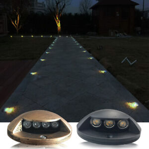 3W LED Outdoor Path Floor Plank Deck Light Surface Mounted Wall Lamp IP65