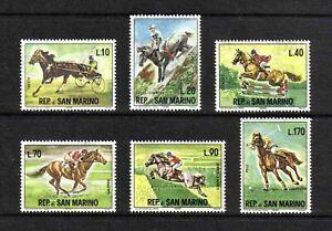 San Marino 1966 Equestrian Sports complete set of 6 values (SG 788-793) MNH
