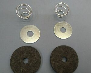 WILLYS MB BRAKE AND CLUTCH PEDAL SHAFT FELT SEAL AND SPRING BUFFER SET
