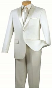 Men's SLIM Fit Tuxedo Prom Wedding Groom Suit Single Breasted 2 Buttons T-SC900