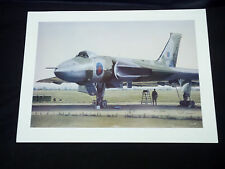 "Flown / Signed Art Print "" Final Dispersal "" by C Sheehan - Vulcan Bomber XH558"
