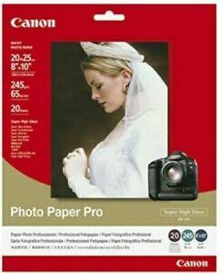"Canon Photo Paper Pro PR-101 Super High Gloss (8""X10"") 20 Sheets  *READ*"