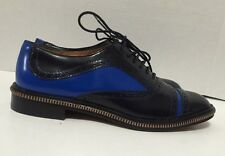 MARC by MARC JACOBS WOMENS NAVY/BLUE LEATHER OXFORD SHOES SIZE US 8.5/ EU 38.5