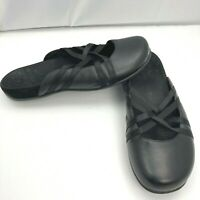 Vionic Claire 5271 Black Slip On Slides Cross Strap Mules Shoes Womens Size 11