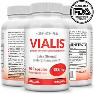 Vialis1000mg Male Enhancement Pills Extra Strength Pharmacuetical Grade (OTC)